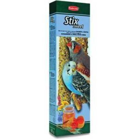 Padovan stix sweet лакомые палочки для волнистых попугаев и экзотических птиц с медом и яйцом 80г