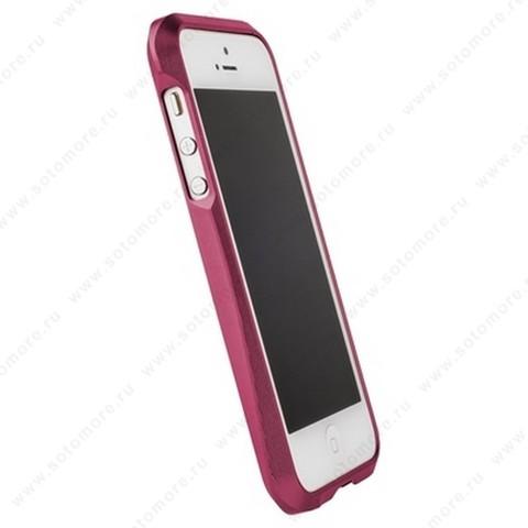 Бампер MIE COOL алюминиевый для iPhone SE/ 5s/ 5C/ 5 A6063 ярко-розовый