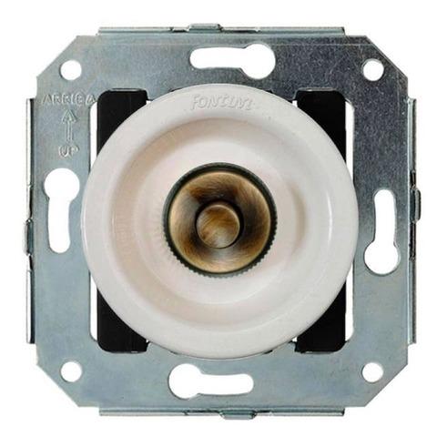 Выключатель/кнопка нажимной 10А 250В~. Цвет Бронза/белый. Fontini Venezia(Фонтини Венезия). 35310592