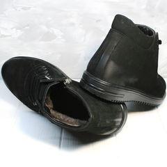 Модные зимние ботинки мужские Luciano Bellini 71783 Black.
