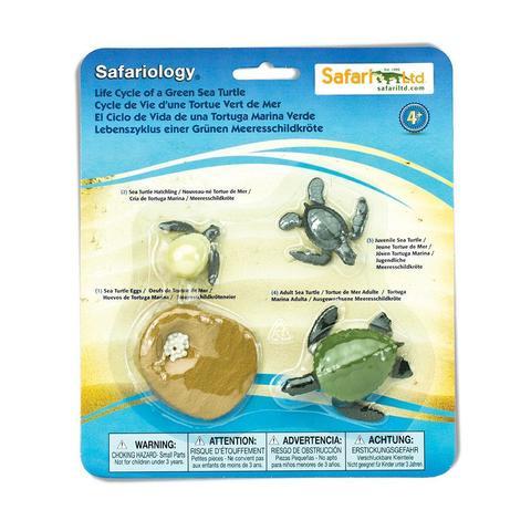 Набор фигурок Жизненный цикл морской черепахи, Safari Ltd.
