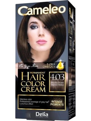 Delia Cosmetics Cameleo Kрем-краска для волос тон 4.03 мокко