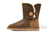UGG SHORT BAILEY BUTTON BOMBER CHESTNUT