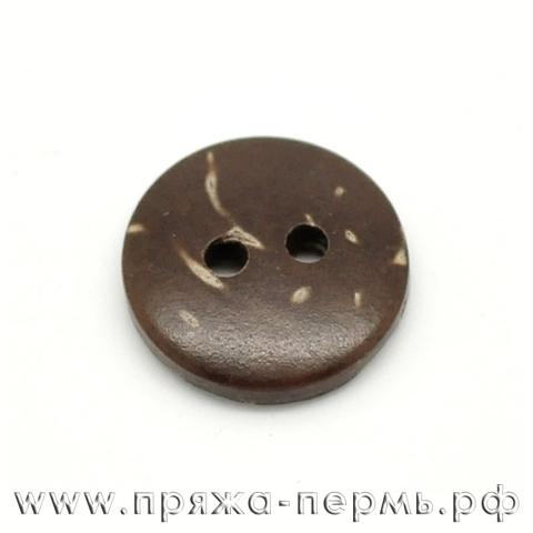 Пуговица 13 мм кокосовая натуральная