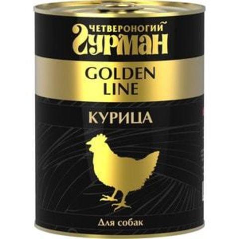 Четвероногий гурман консервы для собак курица натуральная в желе 340г
