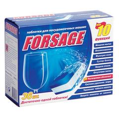 Таблетки для посудомоечных машин Forsage 10 in 1 (36 штук в упаковке)