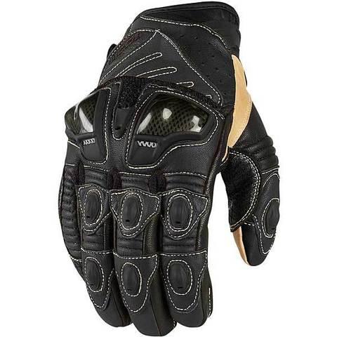 Мотоперчатки - ICON OVERLORD SHORT (черные)