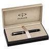 Parker Duofold - Black PT, ручка-роллер, F