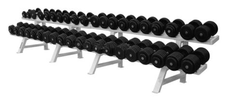 Обрезиненный гантельный ряд из 20 пар – от 8.5 до 56 кг с шагом 2.5 кг