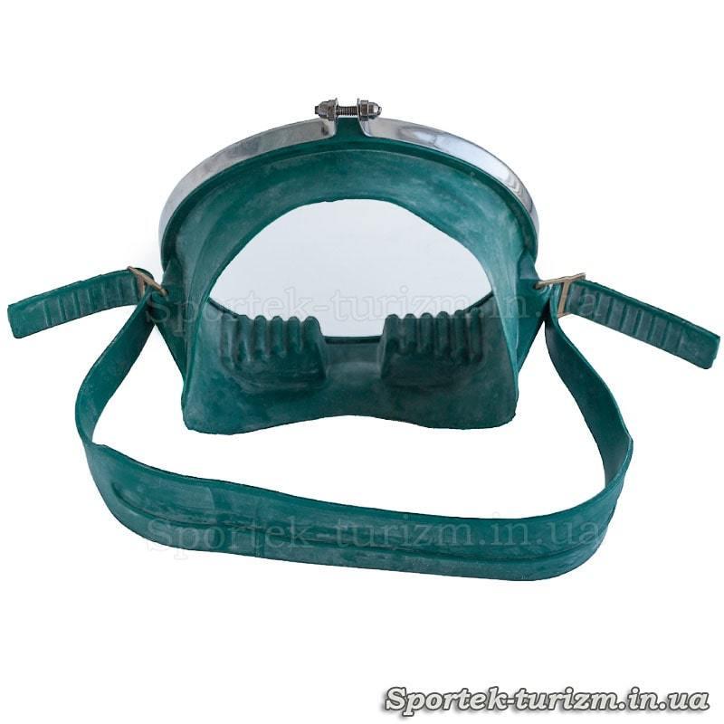Вигляд ззаду на маску для підводного плавання Акванавт Dorfin