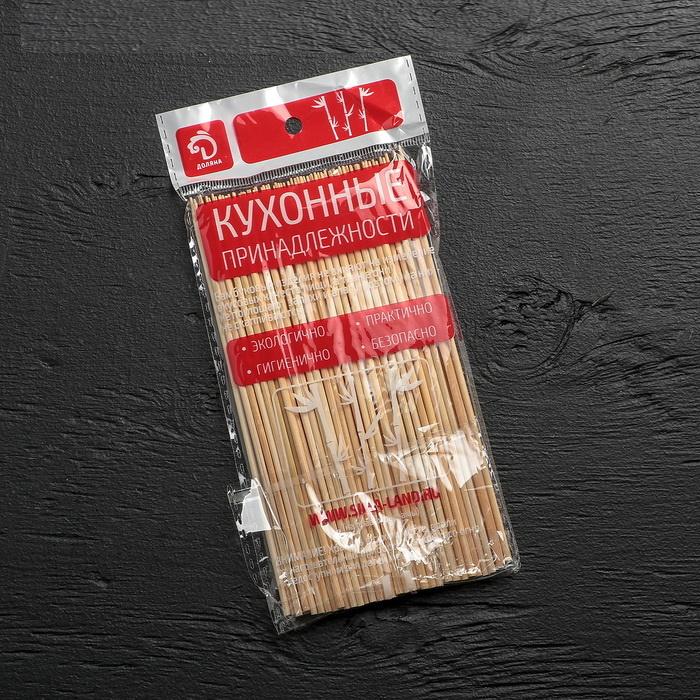 Набор бамбуковых шампуров для шашлыка 15 см, диаметр 3 мм, 85 штук