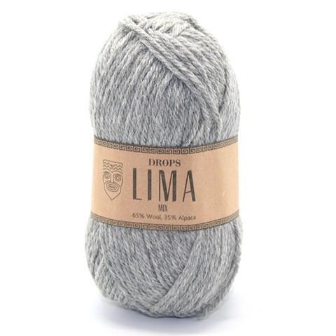 Пряжа Drops Lima 9015 серый