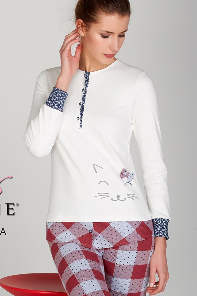 Женская пижама с котом DiBen