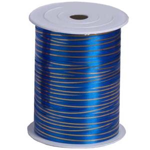 Лента 250м Синяя с золотой полосой
