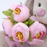 Зайка Ми с букетом роз