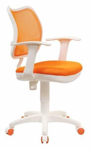 спинка сетка оранжевый сиденье оранжевый TW-96-1 колеса белый/оранжевый (пластик белый)