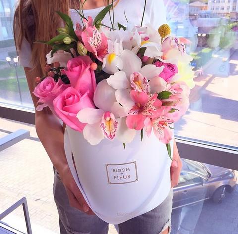Цветы в шляпной коробке #1518