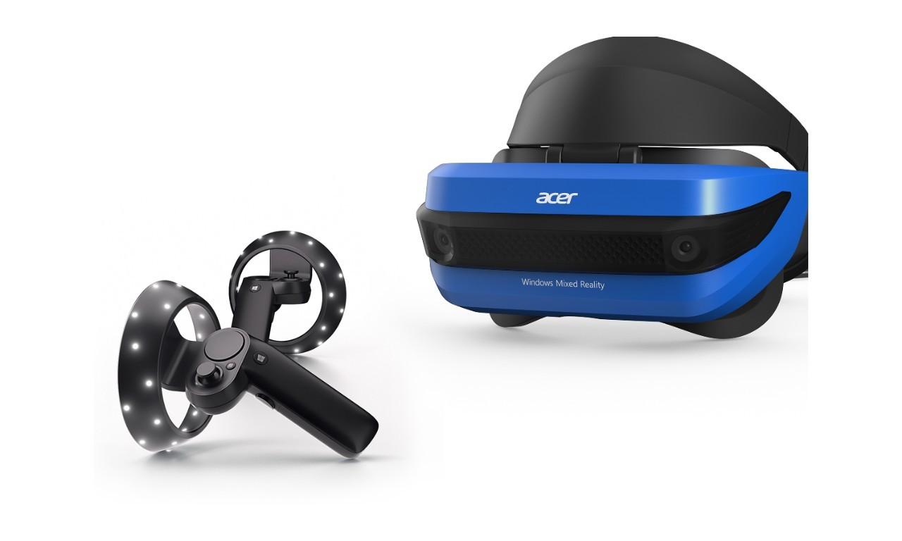 Очки виртуальной реальности Acer Mixed Reality Headset & Controllers AH101