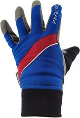 Перчатки лыжные Ski Team K18003BR сине/красные