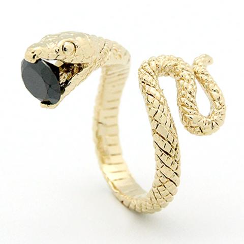 Кольцо Змея (золотая)