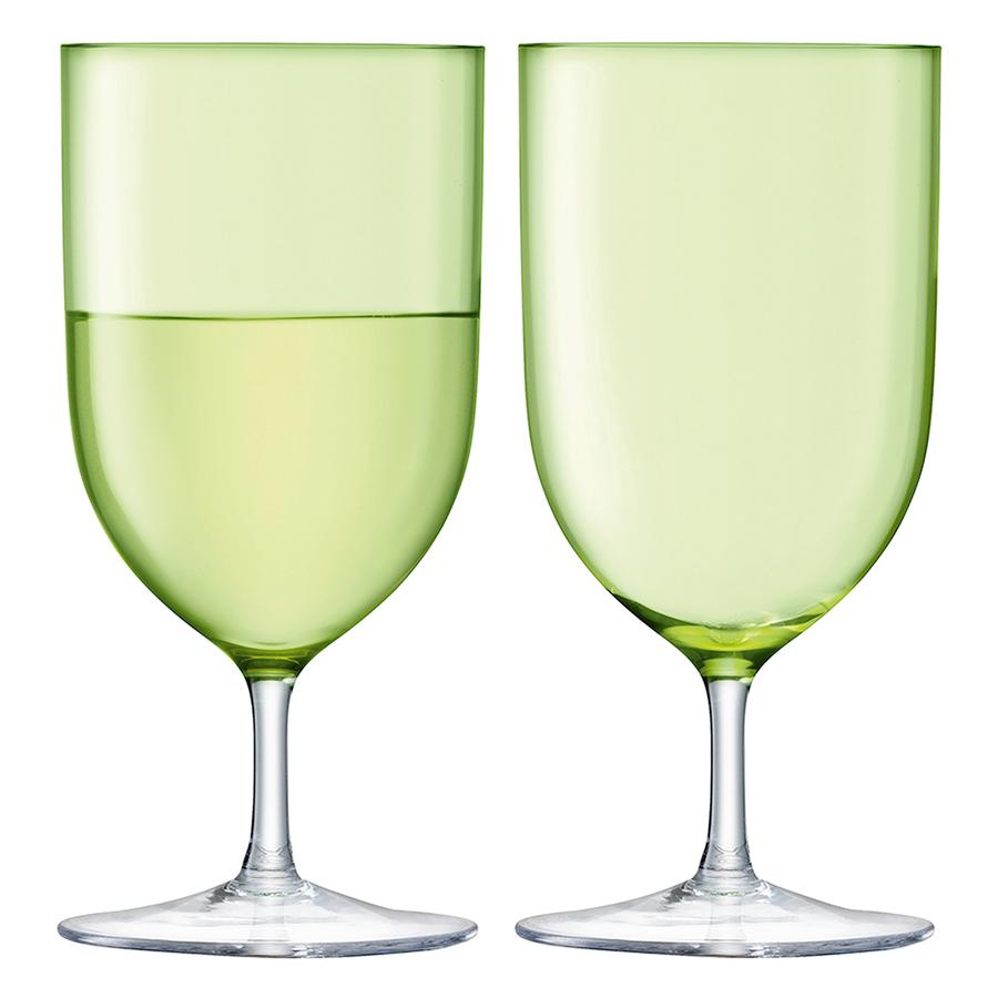 Набор из 2 бокалов для воды и вина Hint, 400 мл, зелёный набор из 2 стаканов для воды и виски hint 400 мл зелёный