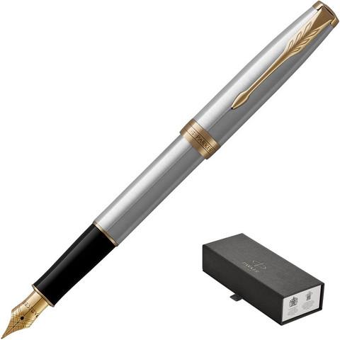 Ручка перьевая Parker Sonnet цвет чернил черный цвет корпуса серебристый (артикул производителя 1931504)