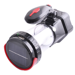 Фонарик акк. Лампа/Ручной YJ-5837T, 1W+24SMD солн. батарея