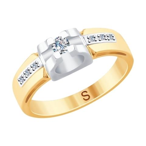 1011745- Помолвочное кольцо из комбинированного золота с бриллиантами