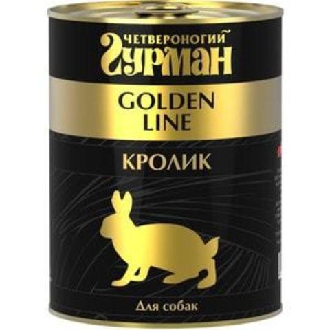 Четвероногий гурман консервы для собак кролик натуральный в желе 340г