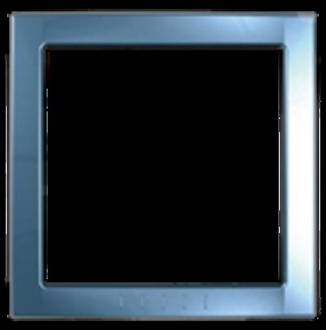 Рамка на 1 пост, декоративный элемент. Цвет Голубой лед. Schneider electric Unica. MGU4.000.54