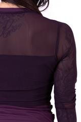 Женский рашгард Nebbia Flash-Mesh longsleeve shirt 664 burgundy