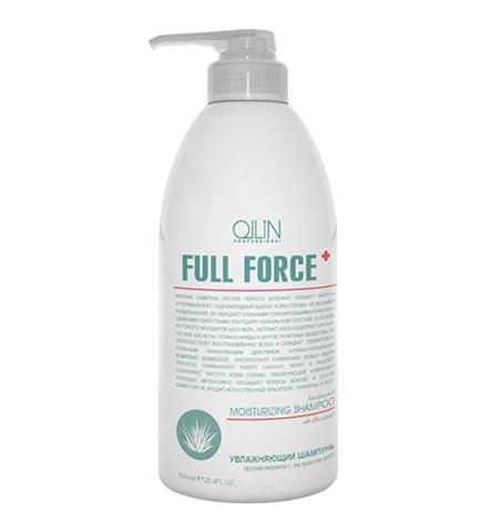 OLLIN full force увлажняющий шампунь против перхоти с экстрактoм алоэ 750мл