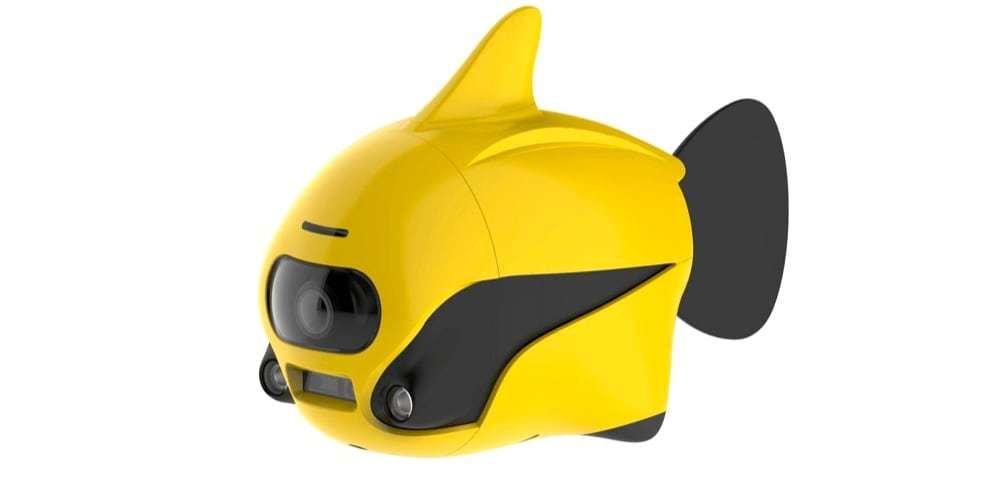 Подводный дрон RoboSea BIKI V1.0 желтый вид сбоку