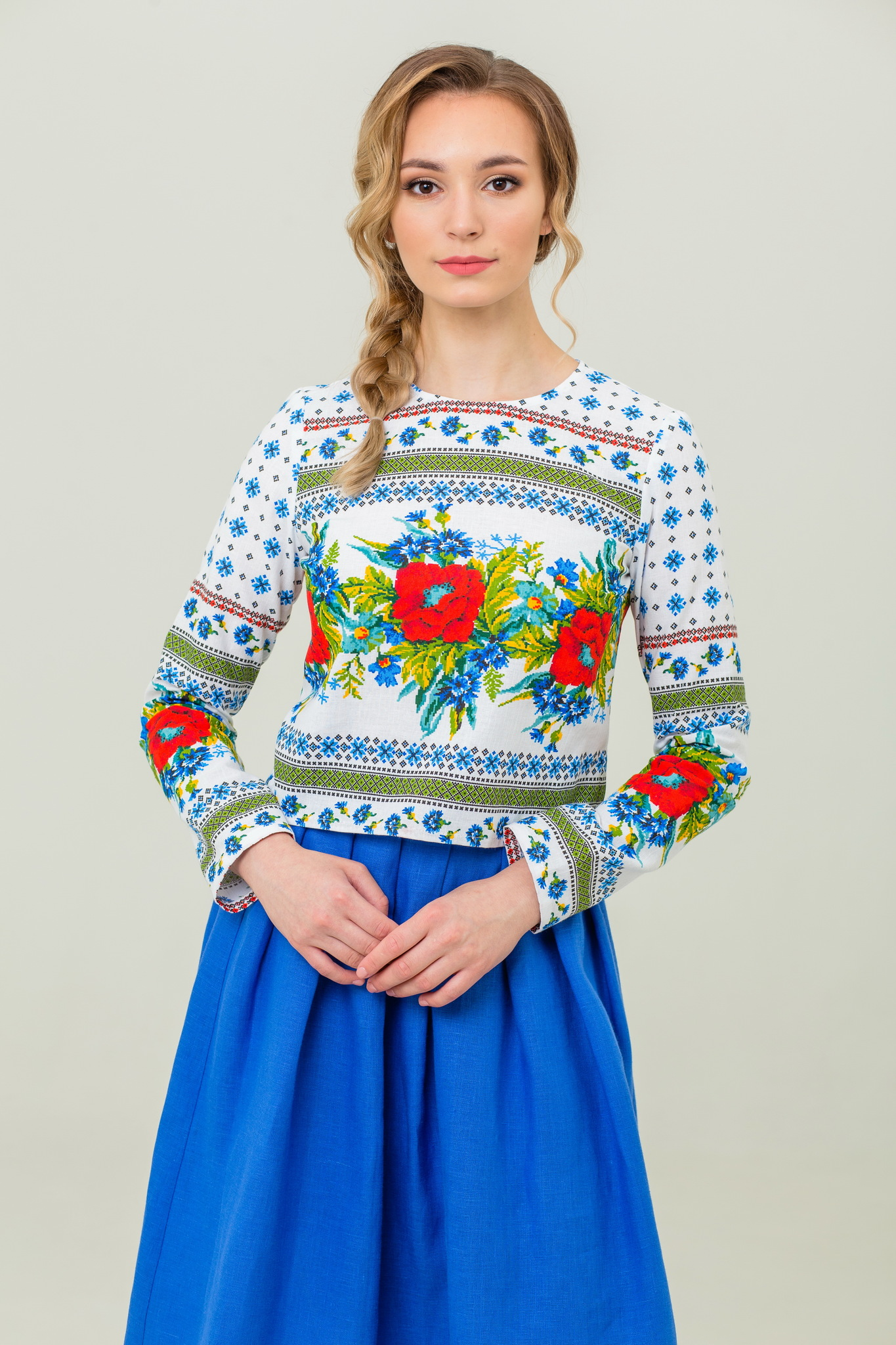 Русский народный костюм Маков цвет купить