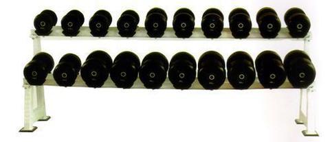 Обрезиненный гантельный ряд из 10 пар - от 3,5 до 26 кг с шагом 2,5 кг