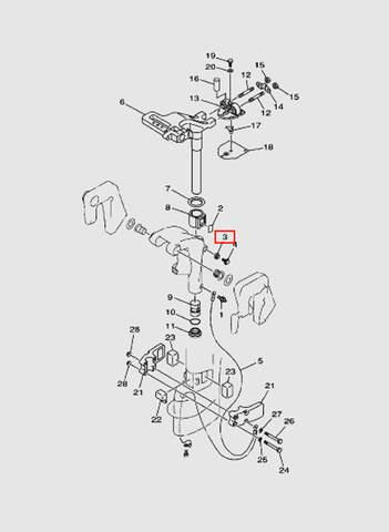 Демпферный уплотнитель  для лодочного мотора T15, OTH 9,9 SEA-PRO (14-3)