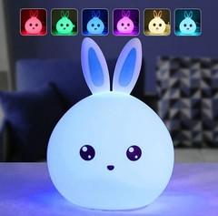 детский ночник rabbit silicone lamp картинка