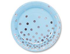 Тарелка бум Горошек серебрян 17см 6шт/G