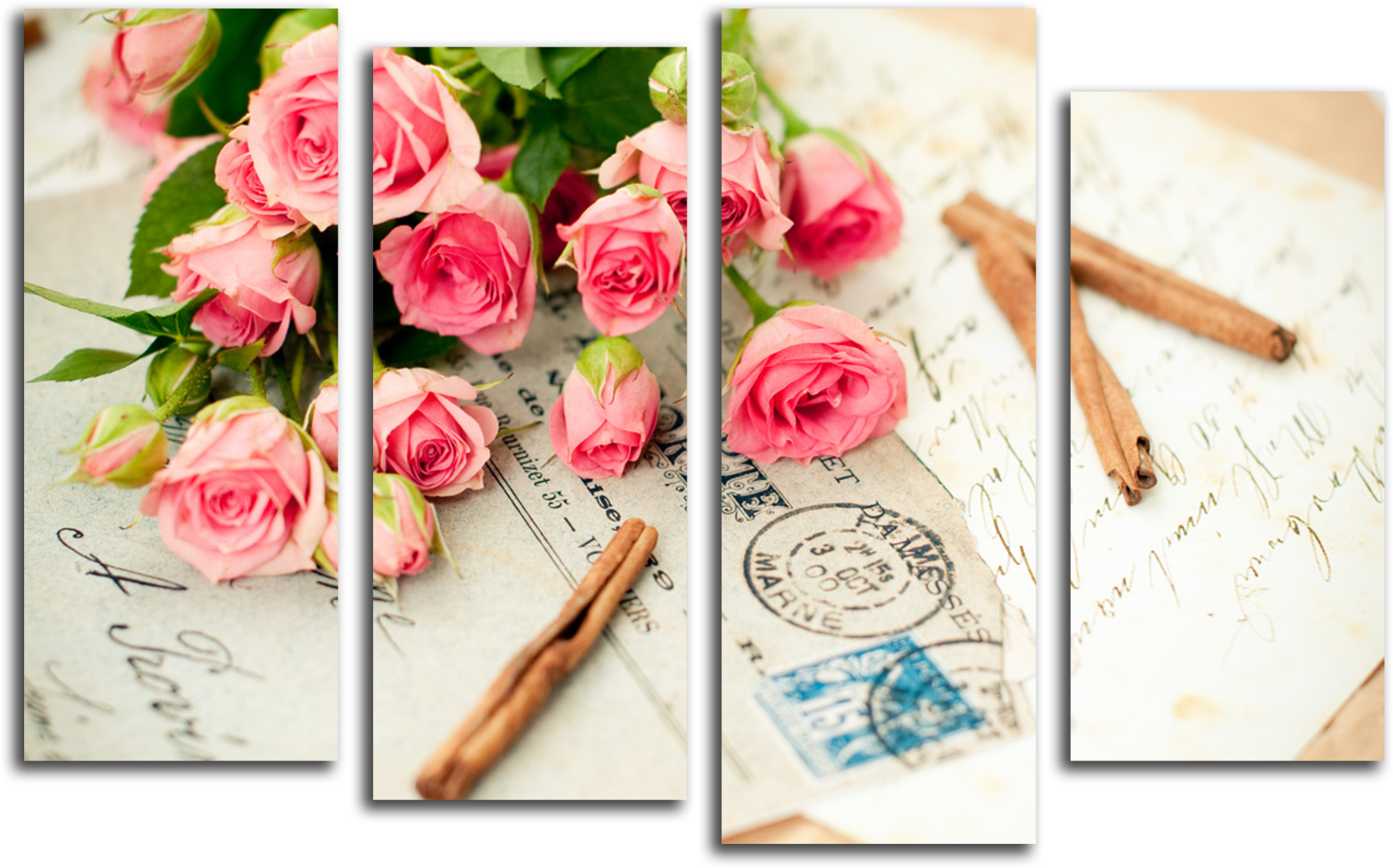 "Цветы Модульная картина ""Букет из роз"" М843.PNG"