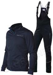Детский утеплённый лыжный костюм Nordski Motion BlueBerry-Black с высокой спинкой