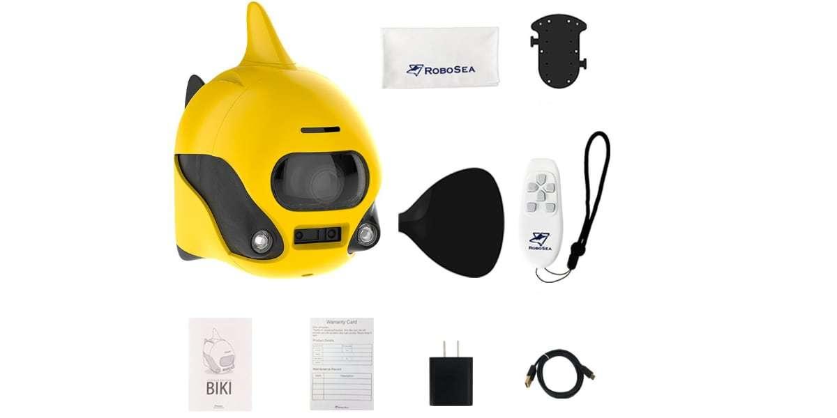 Подводный дрон RoboSea BIKI V1.0 желтый комплект