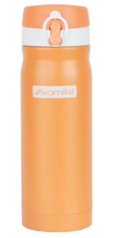 Термос-кружка Kamille 360 мл. оранжевый