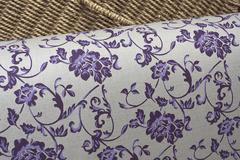 Ткань интерьерная, фиолетовая лилия linobalt
