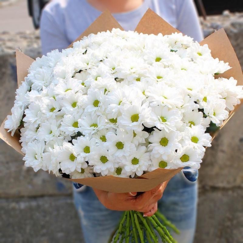 Букет белых хризантем Искренность