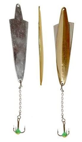 Блесна LUCKY JOHN Wing, цепочка, тройник с каплей, 10 г, цвет GS