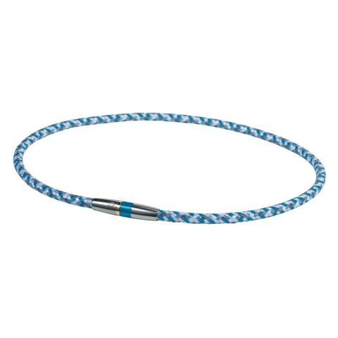 Ожерелье PHITEN RAKUWA NECKLACE X50 HIGH-END III (бело-серо-голубое)