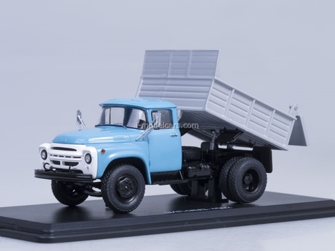 ZIL-MMZ-4502 tipper early grille metal body blue-gray Start Scale Models (SSM) 1:43
