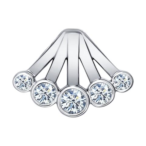 94031295- Подвеска «Зимняя Вишня» из серебра с фианитами