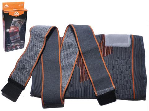 Суппорт колена ST-960 благодаря опоясывающим компрессионным лямкам, эластичным вставкам и особому плетению материала, надежно фиксирует и защищает от травм