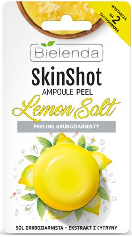 SKIN SHOT Интенсивный солевой скраб с экстрактом с лимона, 8 г